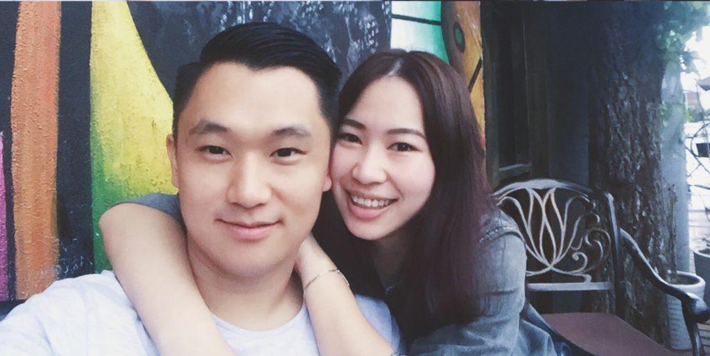 Jack Hu con la sua ragazza Cissie