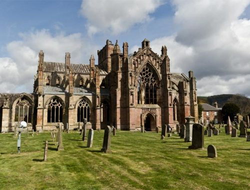 Scozia Sud Abbazie Melrose Jedburgh