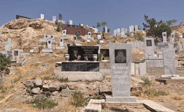 Uzbekistan Il cimitero a Samarcanda