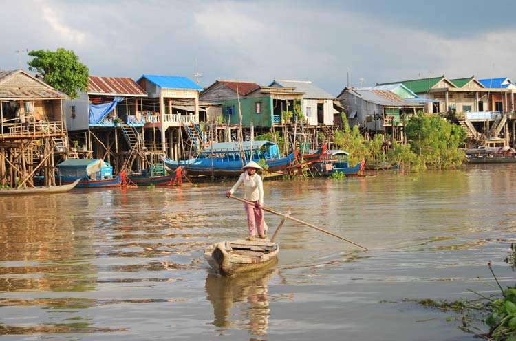 Villaggi Galleggianti Kompong Chhnang Cambogia