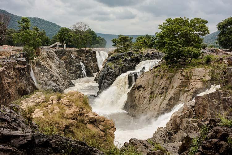 Hogenakkal Falls Cascate Tamil Nadu Karnataka India
