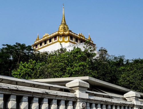 Wat Saket Golden Mount Vista Panoramica Bangkok