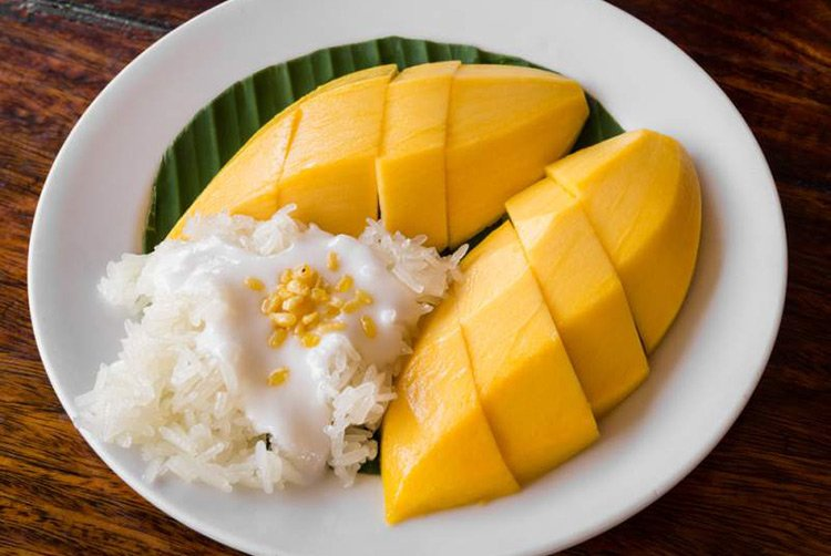 Sticky Rice Mango Dolce Cucina Thailandese