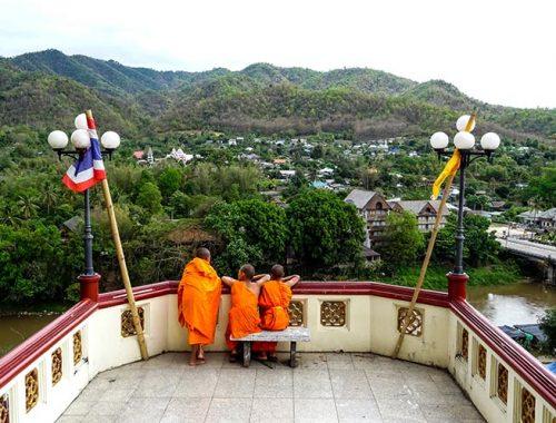 Thaton Thailandia Paesino Montagna Fuga Chiang Mai