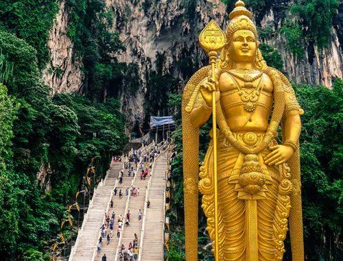 Batu Caves Gita Un Giorno Kuala Lumpur Malesia