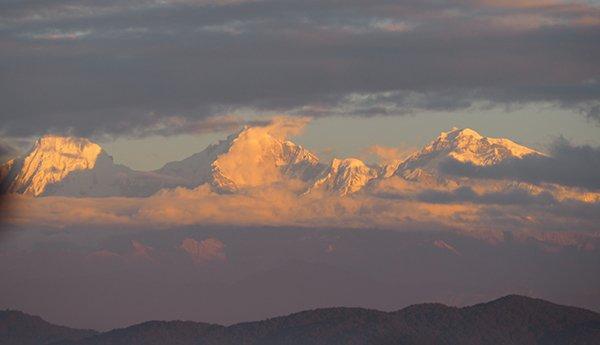 Vedere Alba Sorgere Hmalaya Dhukihel Nagarkot Nepal