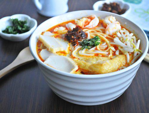 Laksa Ricetta Zuppa Noodles Amata Cucina Malese