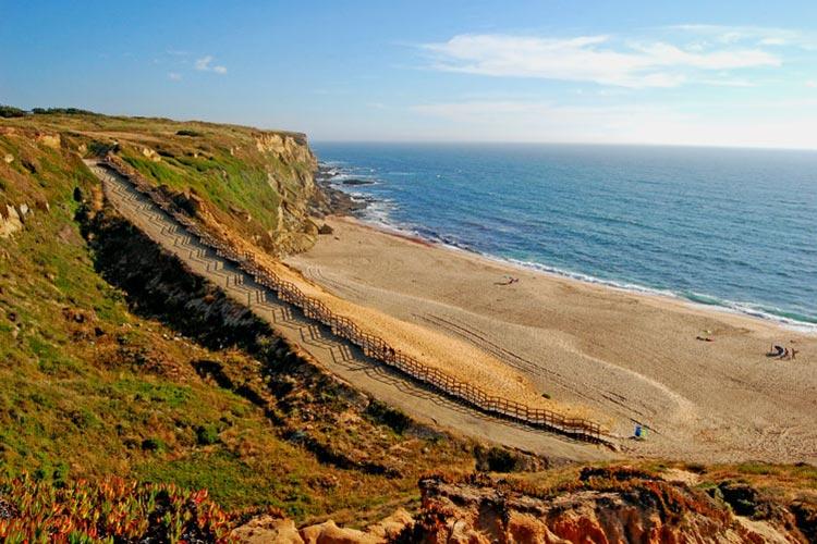 Costa Da Caparica Spiagge Dove Mare Lisbona Portogallo